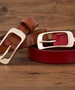 2017 fashion brand 100% genuine leather women belt metal pin buckle vintage belts for womens jeans high quality free shipping 1