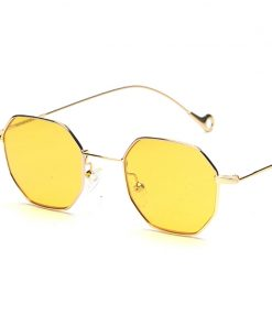 Peekaboo blue yellow red tinted sunglasses women small frame polygon 2017 brand design vintage sun glasses for men retro 1
