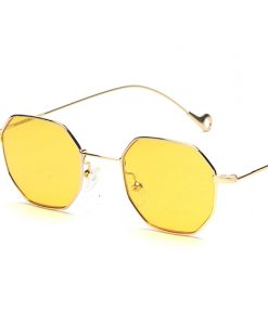 Peekaboo blue yellow red tinted sunglasses women small frame polygon 2017 brand design vintage sun glasses for men retro 1