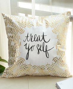 GIANTEX Simple Bronzing Cushion Cover Decorative Pillowcase Home Decor Sofa Throw Pillow Cover 45x45cm U1331 1