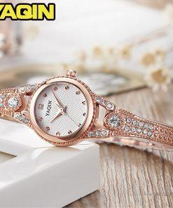 YAQIN fashion women watch with diamond gold watch ladies top luxury brand ladies jewelry bracelet watch relogio feminino 1
