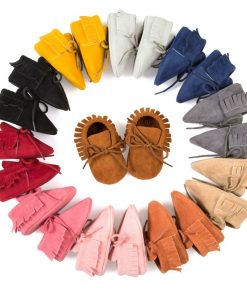 Baby Boy Girl Baby Moccasins Soft Moccs Shoes Bebe Fringe Soft Soled Non-slip Footwear Crib Shoes New PU Suede Leather Newborn 1