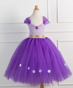 Children Clothes Baby Girl Dress Princess Sofia Costume Girls Kids Birthday Party Bling Fancy Purple Tutu Dress Clothing