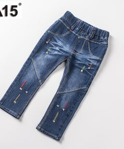 A15 Brand Baby Girl Jeans Spring Children Washed Jeans for Girls Kids Fashion Jeans Pants Boy Trousers Clothing Age 2 3 4 5 Year