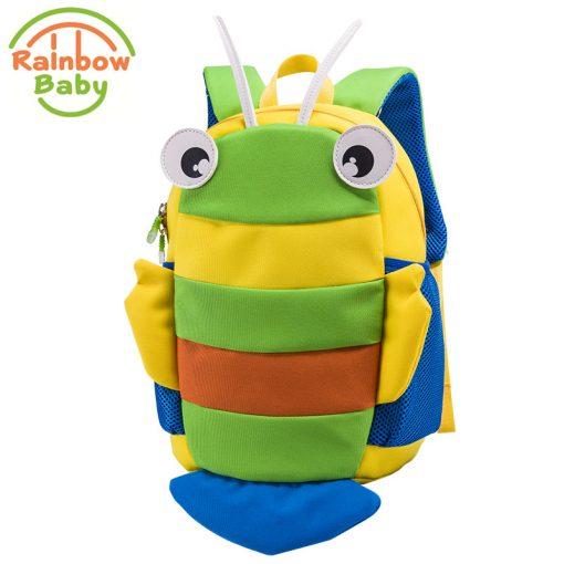 Rainbow Baby Small Bee Kids Babys Bags Backpack Anti-lost Rope Ultra-Light Waterproof Wearable Breathable Boys Girls School Bags 1