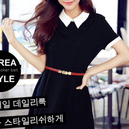 2017 New Design Brand Lady's Slender Waist Belt Women's Strap Genuine Leather Casual Female Girdle Belt for Skirts Dress Girls 1
