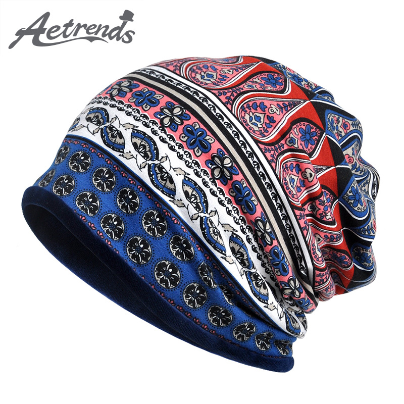 [AETRENDS] 2017 New Fashion Design Hip-Hop Beanies Multi Functions for Beanie Hats or Collar Scarf Z-6224