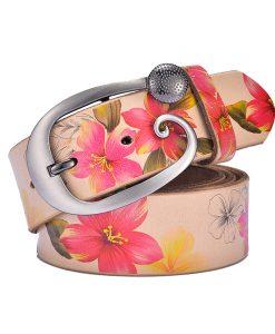 SAN VITALE women belts New ceinture femme belt hand real leather woven straps pin buckle casual style luxury female casual Belts 1