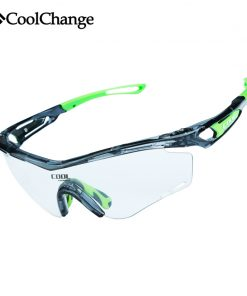 CoolChange Photochromic Polarized Cycling Glasses Bike Eyewear Sports Sunglasses MTB Bicycle Goggles Riding Fishing Myopia Frame