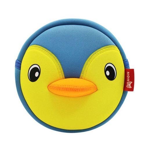 NOHOO High Quality Waterproof Animals Shoulder Bag 3D Penguin Printed Handbag Small Circular Cartoon Kids Baby Bags 4