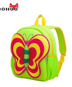 NOHOO Butterfly Waterproof Children School Bags Cartoon Animals School Backpacks For Teenage Girls Large Capacity Baby Backpack 1