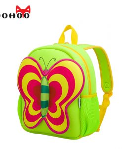NOHOO Butterfly Waterproof Children School Bags Cartoon Animals School Backpacks For Teenage Girls Large Capacity Baby Backpack 1