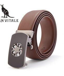 Belts Men Belt Silver Girdle Fashion Automatic Cinturones De Hombres Reversible Buckle 2017 New High Quality Reversible Designer