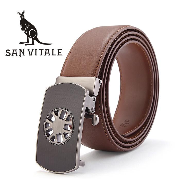 Belts Men Belt Silver Girdle Fashion Automatic Cinturones De Hombres Reversible Buckle 2017 New High Quality Reversible Designer
