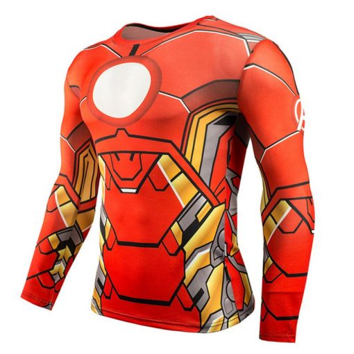 Hot Sale Fitness MMA Compression Shirt Men Anime Bodybuilding Long Sleeve Crossfit 3D Superman Punisher T Shirt Tops Tees 4
