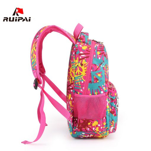 RUIPAI Nylon Printing Children Backpacks Orthopedic School Bags for Teenagers Girls Boys Kids Primary Schoolbag Backpack 3