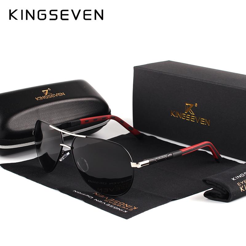KINGSEVEN Aluminum Magnesium Men's Sunglasses Polarized Men Coating Mirror Glasses oculos Male Eyewear Accessories For Men K725 1