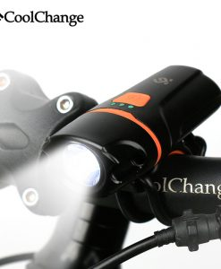 2017 CoolChange Bicycle Light Waterproof USB Rechargeable T6 LED Bike Light Warning Flashlight Built-in Battery 1200mAh 6 Modes