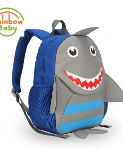 Rainbow Baby Cute Shark Bagpack Ultra-Light Kids & Babys Bags Wearable School Bags Non-Polluting Boys Bagpack Lovely Backpack 1
