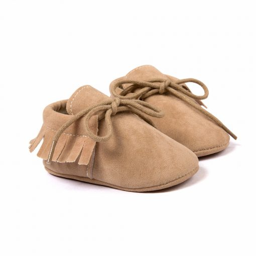 Baby Boy Girl Baby Moccasins Soft Moccs Shoes Bebe Fringe Soft Soled Non-slip Footwear Crib Shoes New PU Suede Leather Newborn 3