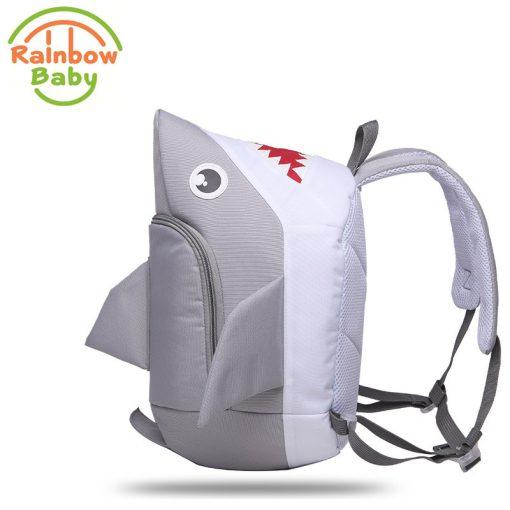 Rainbow Baby 3D Model Shark Kids & Babys Bags Anti Lost School Bags for 2-8 Years Boys and Girls Bagpack Waterproof Backpack 5