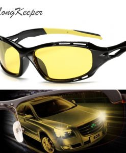 LongKeeper Hot Sale Night Driving glasses Anti Glare Glasses For Safety Driving Sunglasses Yellow Lens Night Vision Goggles 1004
