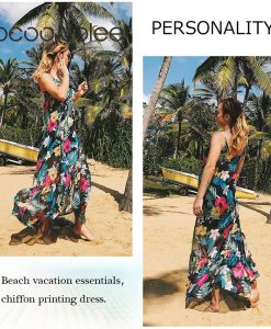 Jocoo Jolee Sexy Floral Sprint the Clairvoyance Dress for Women Front Bow Design Long Dress  Beach Wearings Summer Dress New 1