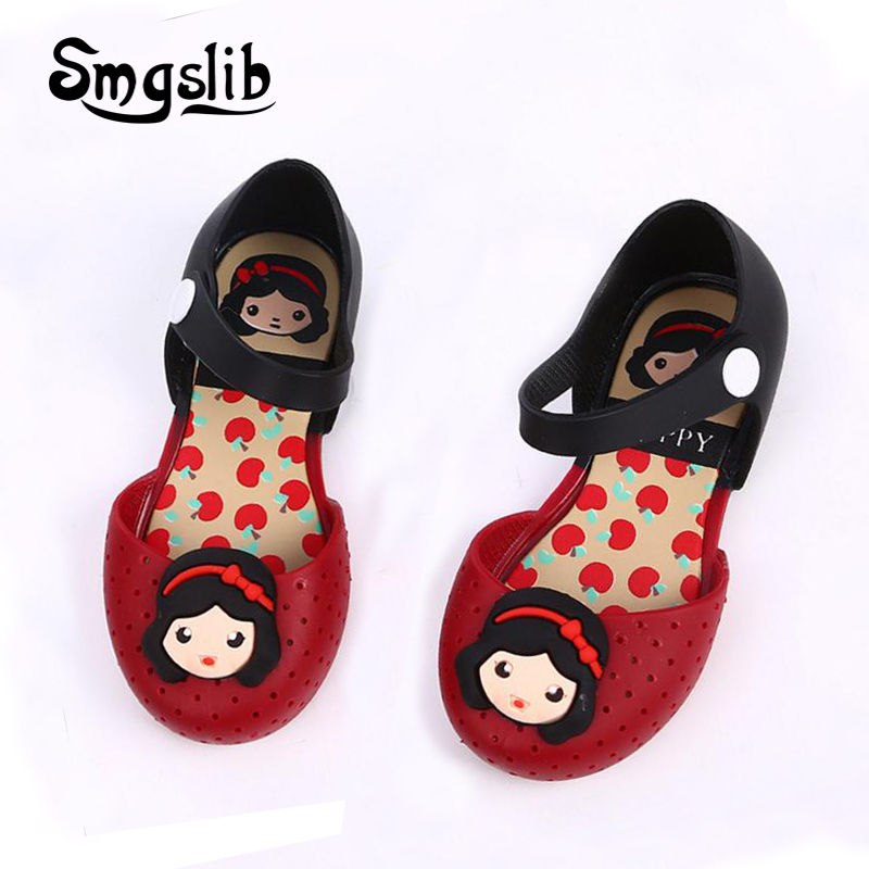 kids shoes girls boys Sandals Children's Cartoon snow white Princess dress party Shoes Waterproof Non-slip Breathable Slippers
