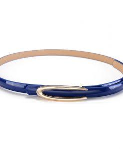 Belts Womens Belt Slim Strap Bohemia Genuine Leather For Ladies Woman Black Stretch Buckles For Dress Luxury Brand Ratchet Slim 1