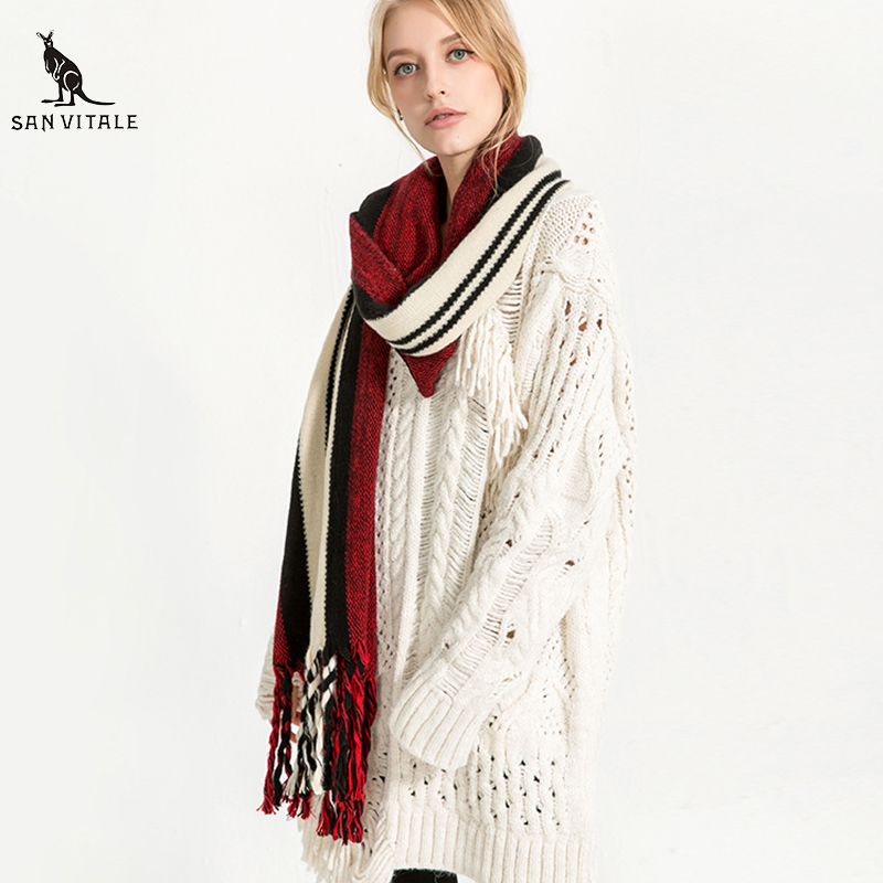 Scarves Women'S Scarf Winter Warm Palestine Shawl Chiffon Luxury Brand Fashionable Cashmere Plaid Pashmina For Dress Scarfs