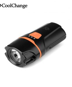 2017 CoolChange Bicycle Light Waterproof USB Rechargeable T6 LED Bike Light Warning Flashlight Built-in Battery 1200mAh 6 Modes 1