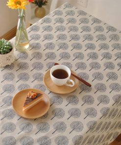 GIANTEX Decorative Table Cloth Cotton Linen Tablecloth Dining Table Cover For Kitchen Home Decor U1260 1