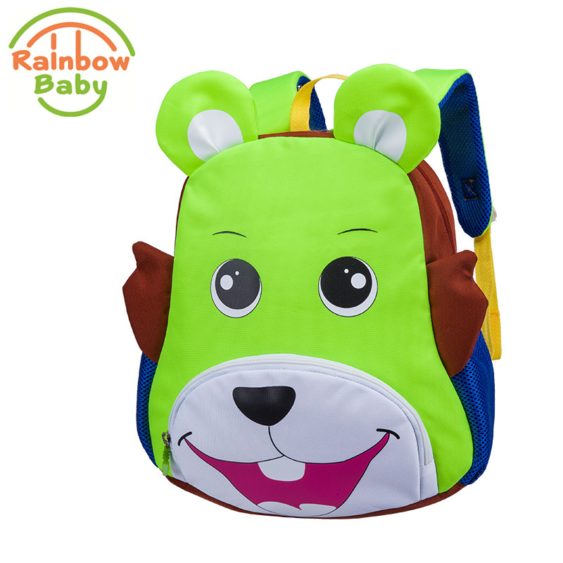 Rainbow Baby Donkey Kids Babys Bag With Anti-lost Rope Urltra-Light Wearable Waterproof Child's Backpack Boys Girls School Bag