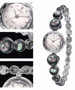 TIME100 Women Watch Fashion Vintage Bracelet Small Dial Alloy Abalone Shell Bracelet Quartz Watches relogio feminino 1