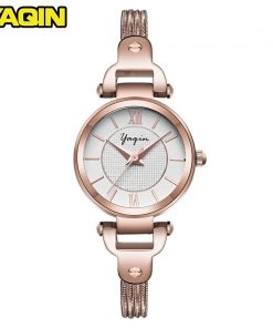 YAQIN brand quartz watch women fashion watch ladies casual wear luxury gold ladies diamond waterproof watch Reloje Mujer 1