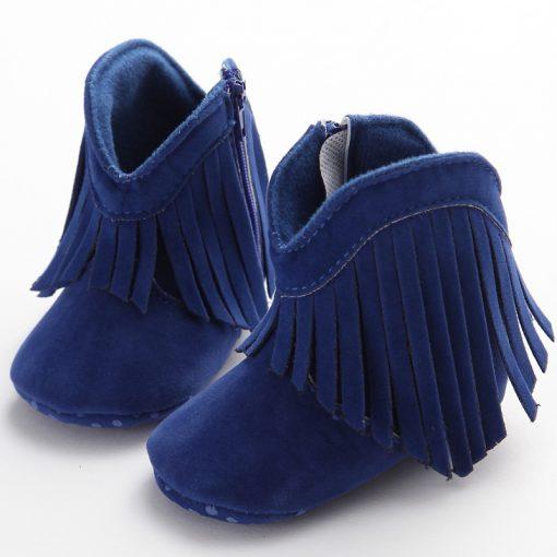 Moccasin Moccs Newborn Baby Girl Boy Kids Prewalker Solid Fringe Shoes Infant Toddler Soft Soled Anti-slip Boots Booties 0-1Yea 3