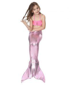 Girls Mermaid Tails For Swimming Kids Mermaid Costumes Swimmable Zeemeerminstaart Met Monofin Cauda De Sereia Children Swimwear  1