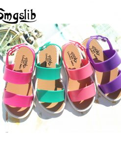 kids shoes girls sandalias summer charm jelly shoes toddlers Baby Soft pvc rubber Comfortble Beach flat heel Sandals stroller 1