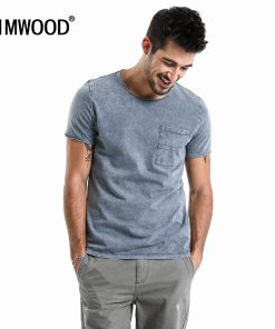 SIMWOOD New 2018 Summer T Shirts  Men 100% Pure Cotton Pocket Breton Top Casual Slim Fit High Quality Brand Clothing TD017109 1