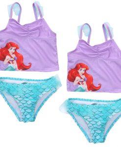 One Pieces Baby Girls Bathing Suit  Swimsuit Children Bikini Set Kids Cartoon Swimwear Costumes 3-6Y 1