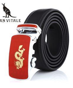 Belts Men Belt Genuine Leather Cowskin Girdle Cinturones De Hombres For Suit For Jeans Luxury Brand Ratchet Reversible Buckle