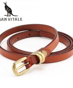 Belts Womens Belt Genuine Leather Golf Ceinture Cowboy Ratchet Slim Automatic Reversible 2018 New High Quality Designer Casual