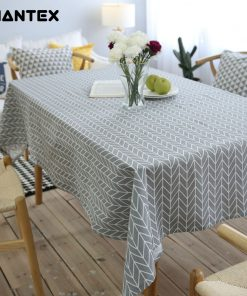 GIANTEX Pastoral Arrow Pattern Decorative Table Cloth Cotton Linen Tablecloth Dining Table Cover For Kitchen Home Decor U1099