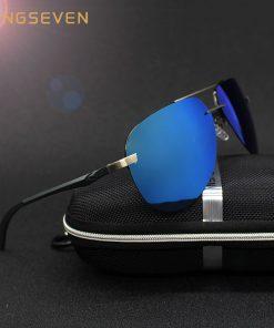 KINGSEVEN Aluminum Magnesium Polarized Sunglasses Men Driver Mirror Sun glasses Male Fishing Female Eyewear For Men 1