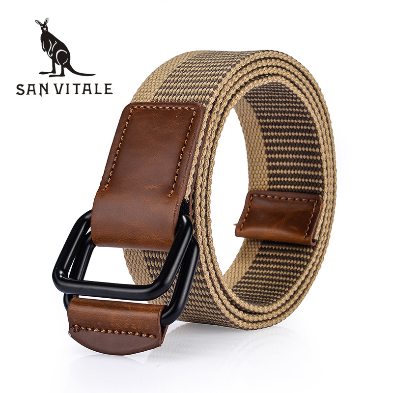 SAN VITALE Men Belt Canvas New Arrival Outdoor Army Tactical Military Nylon Belts Mens Waist Swat Strap With Buckle Rappelling