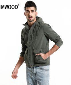 SIMWOOD 2018 Spring Jacket Men Fashion Slim Fit Casual Coats High Quality Windbreaker Plus Size Brand Hooded Jacket 180068