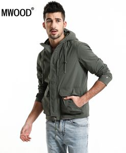 SIMWOOD 2018 Spring Jacket Men Fashion Slim Fit Casual Coats High Quality Windbreaker Plus Size Brand Hooded Jacket 180068