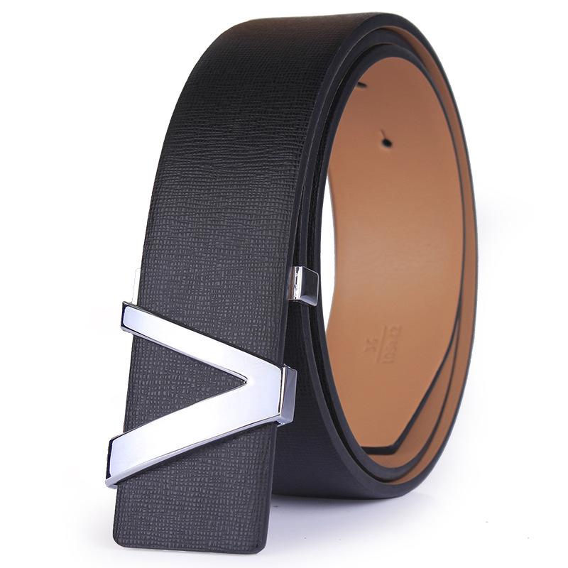 Belt 2016 Hot sale Fashion Cowhide Leather men belt Designer Luxury Famous Brand High quality buckle men Belts for business men 1