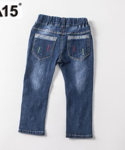 A15 Brand Baby Girl Jeans Spring Children Washed Jeans for Girls Kids Fashion Jeans Pants Boy Trousers Clothing Age 2 3 4 5 Year 1