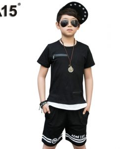 A15 Boys Set Summer 2018 Boys Clothes Set Boys Clothing Set Children Sport Set Kids Casual Clothes Teens 6 8 10 12 14 16 Year
